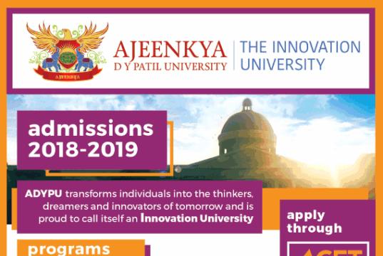 2018 admissions in ajeenkya dy patil university pune