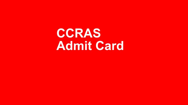Ccras Admit Card